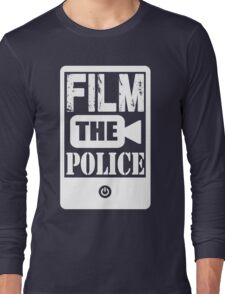 FILM THE POLICE (white) Long Sleeve T-Shirt