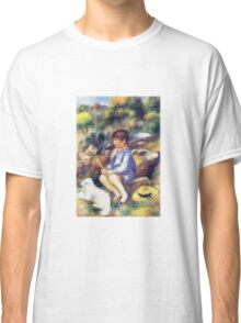 Renoir Auguste - Young Boy By The River 1890 Classic T-Shirt