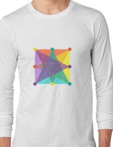Crisscross Square Long Sleeve T-Shirt