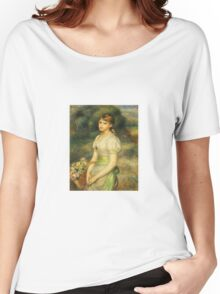 Renoir Auguste - Young Girl With A Basket Of Flowers 1888 Women's Relaxed Fit T-Shirt