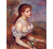 Renoir Auguste - Young Girl With Daisies 1889 Photographic Print