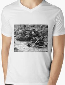 Zen Bridge Mens V-Neck T-Shirt