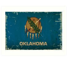 Oregon State Flag VINTAGE Art Print