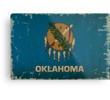 Oregon State Flag VINTAGE Metal Print