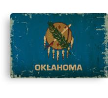 Oregon State Flag VINTAGE Canvas Print