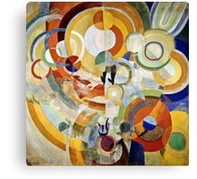 Robert Delaunay - Carousel With Pigs (Or Electric Carousel)  Canvas Print