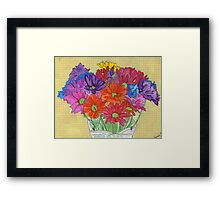 My Flowers in a Vase Framed Print