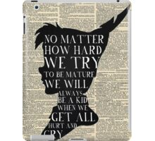 Peter Pan Vintage Dictionary Page Style -- No Matter iPad Case/Skin