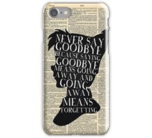 Peter Pan Vintage Dictionary Page Style -- Never Say iPhone Case/Skin