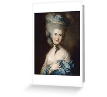 Thomas Gainsborough - Portrait Of A Lady In Blue Greeting Card