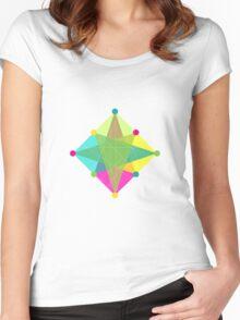Crisscross Diamond Women's Fitted Scoop T-Shirt
