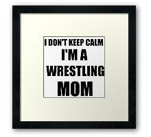 wrestling mom Framed Print