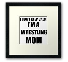 wrestling mom Framed Print