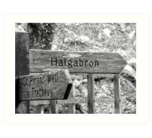 Signpost to where? Art Print