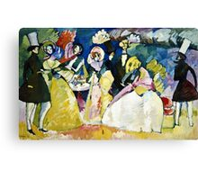 Vassily Kandinsky - Group In Crinolines  Canvas Print