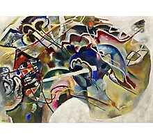 Vassily Kandinsky - Painting With White Border Moscow  Photographic Print