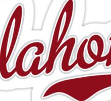 Oklahoma Script Garnet Sticker