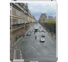 Street perspective - Rue de Rivoli - Paris iPad Case/Skin
