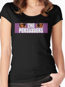 The Persuaders - Curtis + Moore Women's Fitted Scoop T-Shirt
