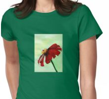 A Red Flower in Sharona's Dreams Womens Fitted T-Shirt