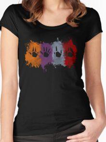Prime Beams Splatter (Transparent Symbols) Women's Fitted Scoop T-Shirt