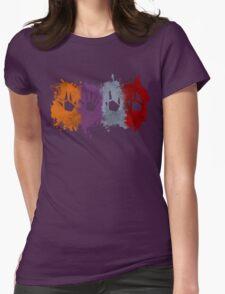 Prime Beams Splatter (Transparent Symbols) Womens Fitted T-Shirt