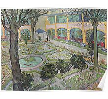Vincent Van Gogh -  Courtyard Of  Hospital In Arles, 1889 Poster
