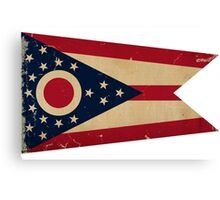 Ohio State Flag VINTAGE Canvas Print