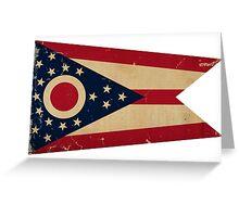 Ohio State Flag VINTAGE Greeting Card