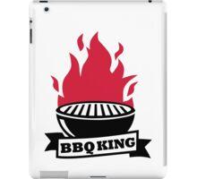 BBQ King red flame iPad Case/Skin