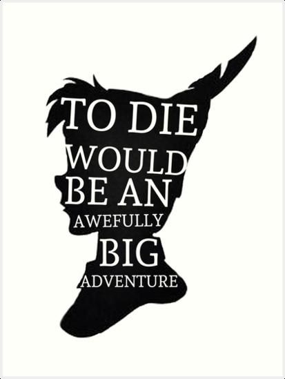 """Peter Pan Quote Silhouette -- Big Adventure"" Art Prints ..."