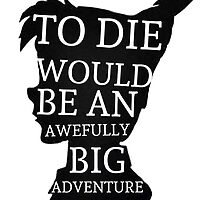 Peter Pan Quote Silhouette -- Big Adventure by Alyssa  Clark