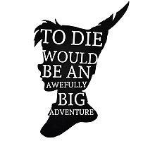 Peter Pan Quote Silhouette -- Big Adventure Photographic Print