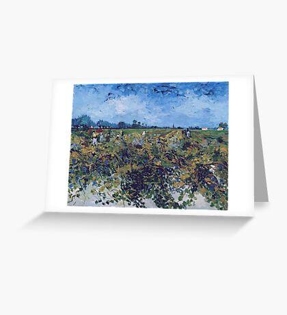 Vincent Van Gogh -  Green Vineyard, 1888 Greeting Card