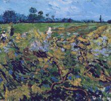 Vincent Van Gogh -  Green Vineyard, 1888 Sticker