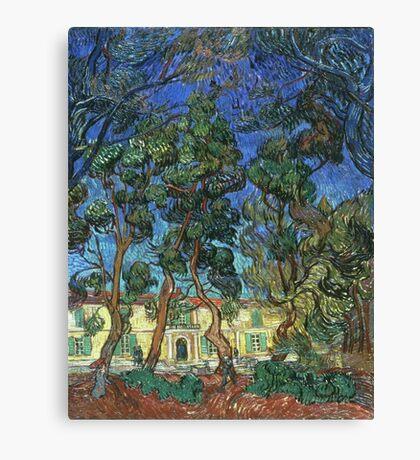 Vincent Van Gogh -  Grounds Of  Asylum, 1889 Canvas Print