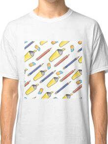 Hand drawn seamless pattern with marker, pen and rubber.  Classic T-Shirt