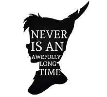 Peter Pan Quote Silhouette -- Never Is Photographic Print