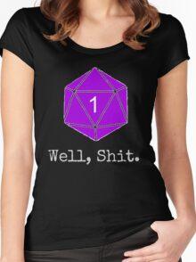 Critical Fail Roll - Custom Basic Women's Fitted Scoop T-Shirt