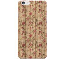 Wood & Roses Pattern  iPhone Case/Skin
