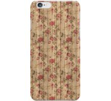 Wood & Roses Pattern  iPhone Case/Skin