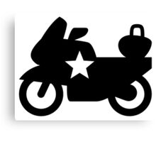 Police Bike Icon Canvas Print