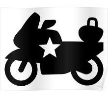 Police Bike Icon Poster