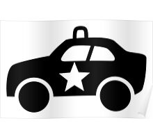 Police Car Icon Poster