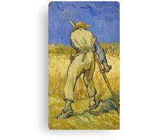 Vincent Van Gogh -  Reaper 1890 Canvas Print
