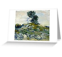 Vincent Van Gogh -  Rocks, 1888  Greeting Card