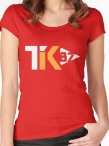 Touchdown King 87 Red Women's Fitted Scoop T-Shirt