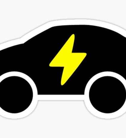 Electric Car Icon Sticker