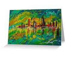 City Mirage Greeting Card