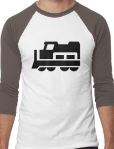 Heavy Diesel Train Locomotive Icon Men's Baseball ¾ T-Shirt